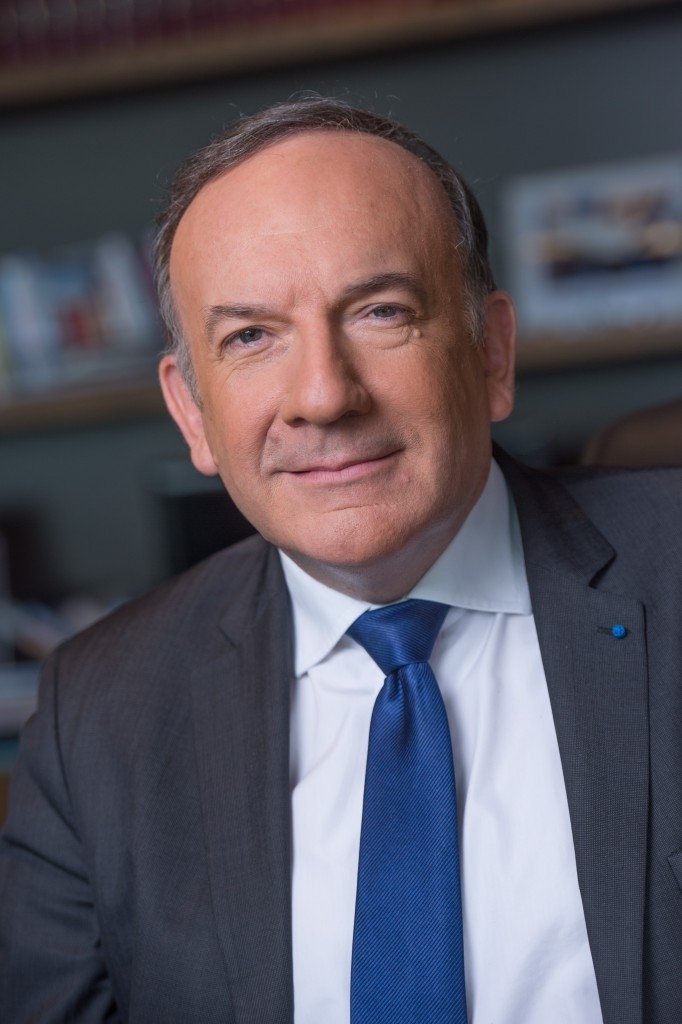 Mr Pierre Gattaz, President du MEDEF, à Paris, le 28 Janvier 2015. Photo by © Christophe Guibbaud